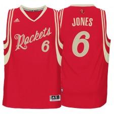Houston Rockets &6 Terrence Jones Red 2015 Christmas Day Swingman Jersey