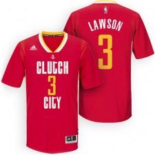 Rockets New Uniform-Houston 2015-16 Season &3 Ty Lawson New Swingman Clutch City Pride Red Jersey