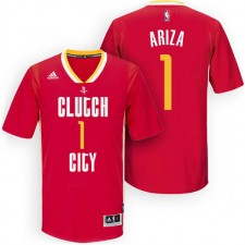 Rockets New Uniform-Houston 2015-16 Season &1 Trevor Ariza New Swingman Clutch City Pride Red Jersey