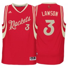 Houston Rockets &3 Ty Lawson 2015-16 Christmas Day Red Jersey