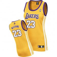 Los Angeles Lakers &23 Lou Williams Women Yellow Jersey