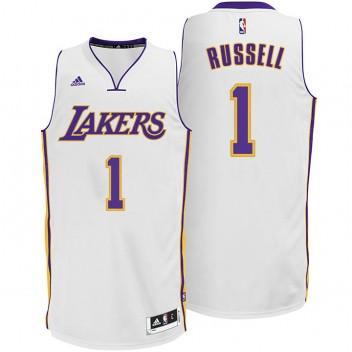D'Angelo Russell Los Angeles Lakers #1 2014-15 Nouveau Swingman Alternative Blanc Maillot