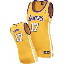 Los Angeles Lakers &17 Roy Hibbert Women Yellow Jersey