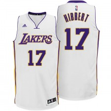 Roy Hibbert Los Angeles Lakers &17 New Swingman Alternative White Jersey