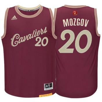 Timofey Mozgov Cleveland Cavaliers #20 Burgundy Rouge 2015 noël Journée Swingman Maillot