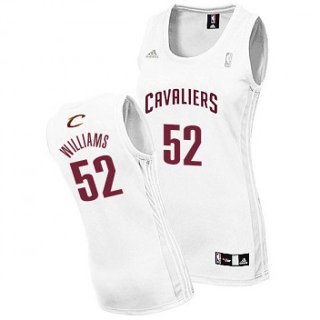 Cleveland Cavaliers #52 Mo Williams Femme Blanc Maillot