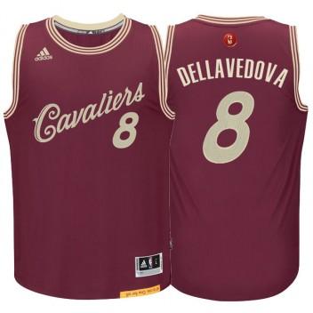 Cleveland Cavaliers #8 Matthew Dellavedova Burgundy Rouge 2015 noël Journée Swingman Maillot