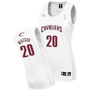 Cleveland Cavaliers #20 Timofey Mozgov Femme Blanc Maillot