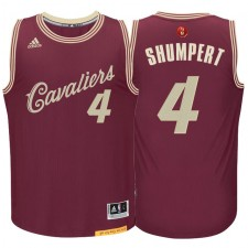 Cleveland Cavaliers &4 Iman Shumpert Burgundy Red 2015 Christmas Day Swingman Jersey