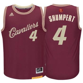 Cleveland Cavaliers #4 Iman Shumpert Burgundy Rouge 2015 noël Journée Swingman Maillot