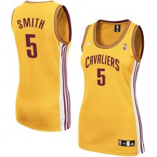 Cleveland Cavaliers &5 J.R. Smith Women Gold Jersey