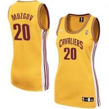 Cleveland Cavaliers &20 Timofey Mozgov Women Gold Jersey