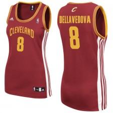 Cleveland Cavaliers &8 Matthew Dellavedova Women Red Jersey