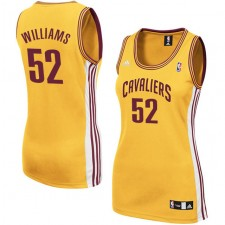 Cleveland Cavaliers &52 Mo Williams Women Gold Jersey