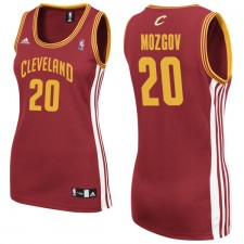 Cleveland Cavaliers &20 Timofey Mozgov Women Red Jersey