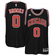 Chicago Bulls &0 Aaron Brooks New Swingman Black Jersey