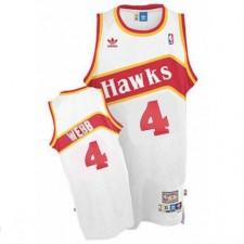 Atlanta Hawks &4 Spud Webb Soul Swingman White Jersey