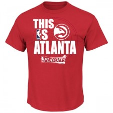 This Is Atlanta Hawks Majestic Red Playoffs T-Shirt