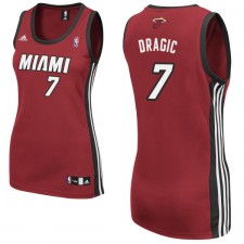 Miami Heat &7 Goran Dragic Women Red Jersey