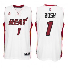 Miami Heat &1 Chris Bosh New Swingman Home White Jersey