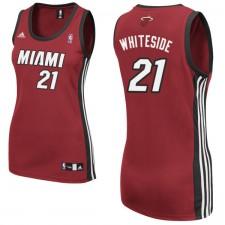Miami Heat &21 Hassan Whiteside Women Red Jersey