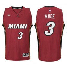 Miami Heat &3 Dwyane Wade New Swingman Red Jersey