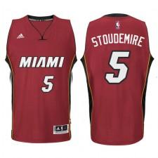 Miami Heat &5 Amar'e Stoudemire New Swingman Red Jersey