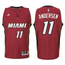 Miami Heat &11 Chris Andersen New Swingman Red Jersey