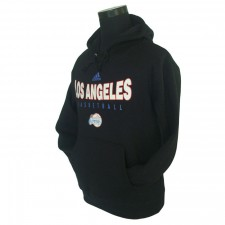 Los Angeles Clippers Primary Logo Synthetic Black Pullover Hoodie