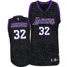 Los Angeles Lakers &32 Magic Johnson Crazy Light Leopard Swingman Jersey