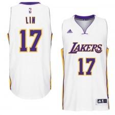 Los Angeles Lakers &17 Jeremy Lin 2014-15 New Swingman White Jersey