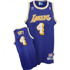 Los Angeles Lakers &4 Byron Scott Soul Swingman Road Jersey