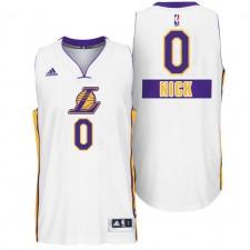 Los Angeles Lakers &0 Nick Young Christmas Day X-mas Big Logo Swingman White Jersey