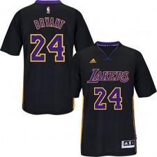 Los Angeles Lakers &24 Kobe Bryant 2014-15 Pride New Swingman Black Short Sleeve Jersey