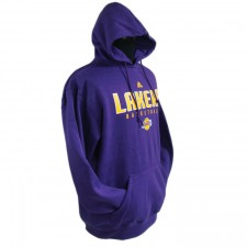 Los Angeles Lakers Primary Logo Synthetic Purple Pullover Hoodie