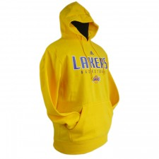 Los Angeles Lakers Primary Logo Synthetic Yellow Pullover Hoodie