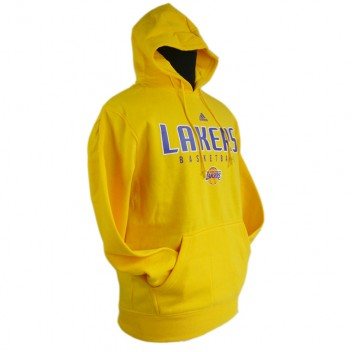 Los Angeles Lakers principal Logo synthétique Yellow Pullover Hoodie