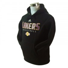 Los Angeles Lakers Primary Logo Synthetic Black Pullover Hoodie