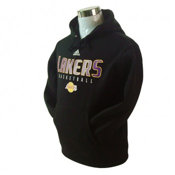 Los Angeles Lakers principal Logo synthétique Noir Pullover Hoodie
