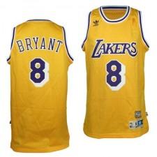 Los Angeles Lakers &8 Kobe Bryant Soul Swingman Gold Jersey