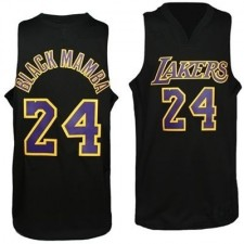 Lakers &24 Kobe Bryant Nickname Black Mamba Swingman Jersey