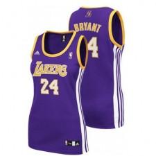 Los Angeles Lakers &24 Kobe Bryant Women's Purple Jersey