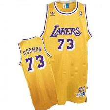 Los Angeles Lakers &73 Dennis Rodman Gold Jersey