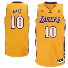 Steve Nash Los Angeles Lakers &10 Revolution 30 Swingman Gold Jersey