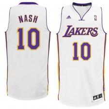 Los Angeles Lakers &10 Steve Nash Revolution 30 White Swingman Jersey
