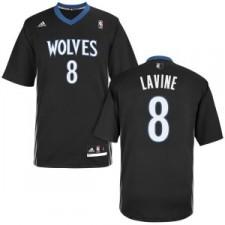 Acheter maillots de basket-ball des Minnesota Timberwolves 8 Zach Lavine lights out autre noir à manches
