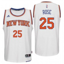New York Knicks 25 Derrick Rose nouvelle Swingman blanc maillot domicile masculine