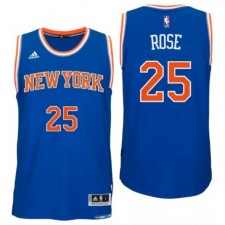 New York Knicks 25 Derrick Rose nouvelle Swingman route masculine bleue Maillot