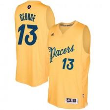 Adidas Indiana Pacers 13 Paul George le jour de Noël or 2016-2017 authentique NBA maillot hommes