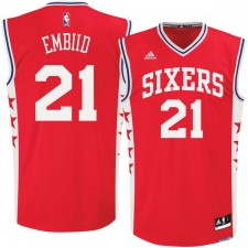 Philadelphia 76ers de hommes Joel Embiid adidas maillot Replica remplaçant de rouge